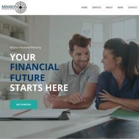 Mission Financial Website by Branded Studio